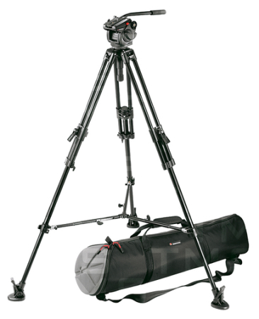 Bogen Manfrotto 501HDV Pro Video Head, 351MVB2 Tripod, 350SPRB Spreader