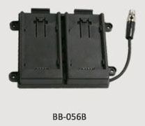 TVLogic BB-056B: Dual Panasonic AF100 Battery Bracket for VFM-056 Monitors
