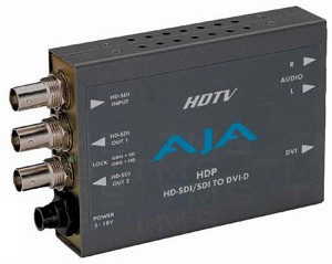 AJA HDP HD-SDI/SDI to DVI-D and Audio Converter