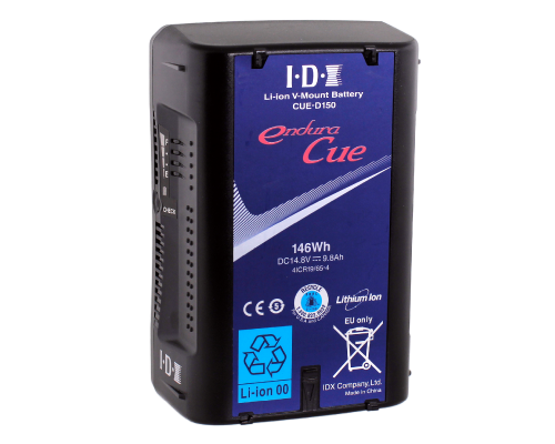 IDX DUO-150 146 Watt Li-ion V-Mount Battery 2x D-Tap + USB Output