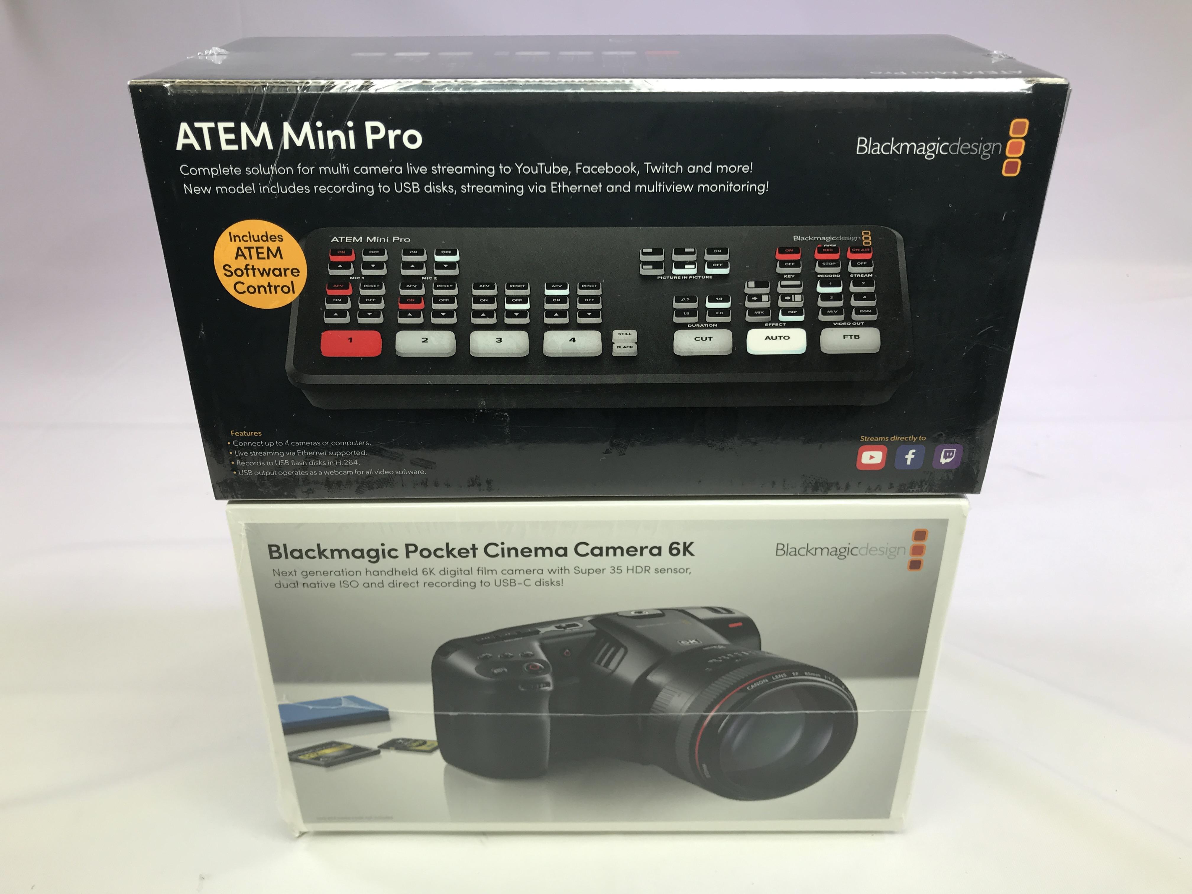 Blackmagic Design Atem Mini Pro Hdmi Switcher Pocket 6k Camera Bundle