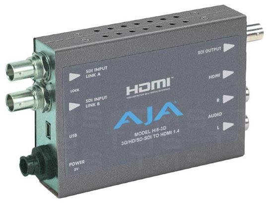 AJA HI5-3D 3G/HD-SDI Multiplexer To HDMI 1 4a and SDI Video and Audio  Converter - Texas Media Systems