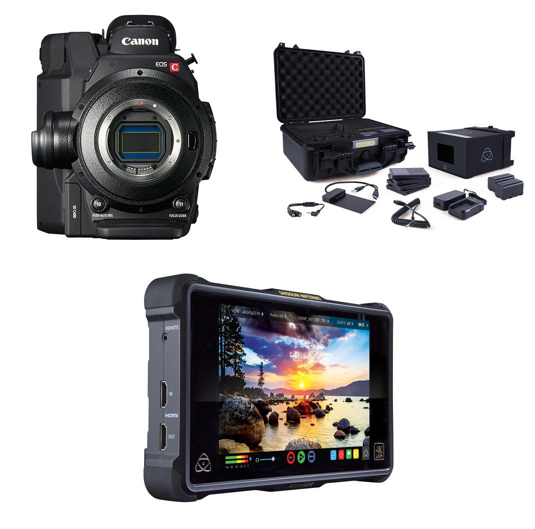 Canon C300 Mark II Cinema Camera PL-Mount (1131C002) & Atomos Shogun  Inferno w/ Atomos Accessory Kit Bundle