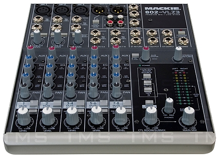 Home Pro Audio Equipment Mackie 802 VLZ3 8 Channel Compact Mixer