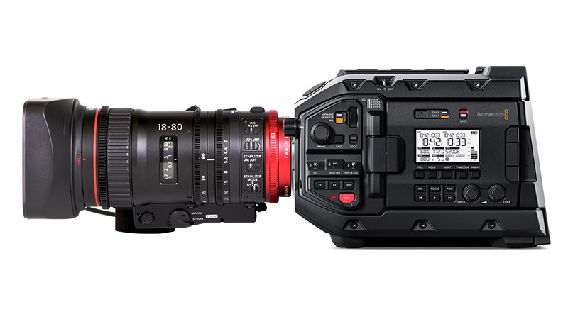Blackmagic URSA Mini Pro w/ Canon Compact-Servo 18-80mm