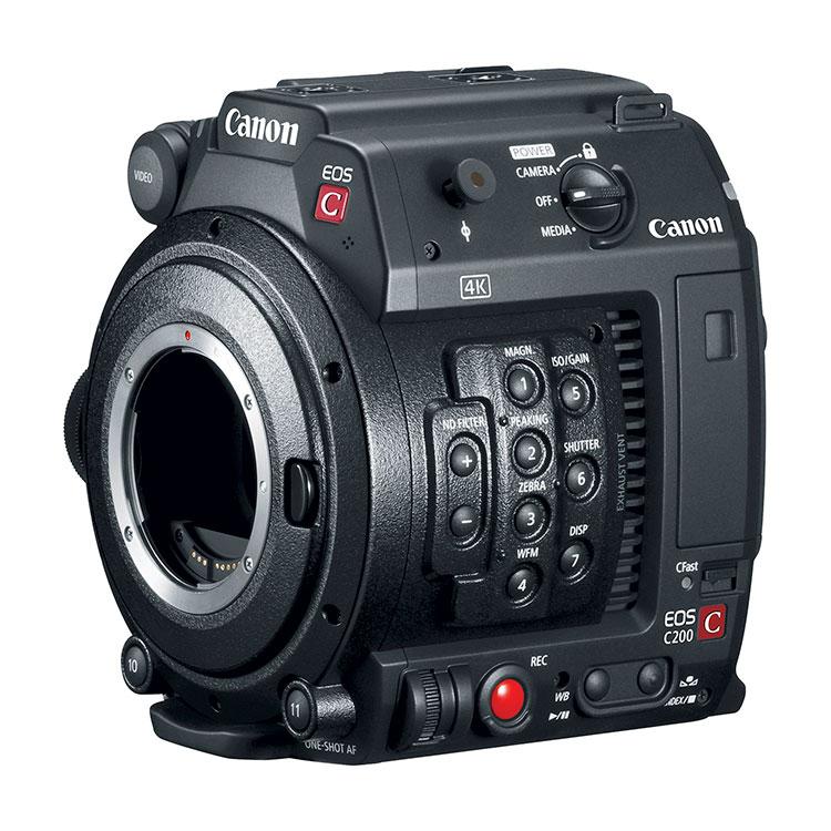 Canon C200B Accessory Kit 2216C011 with C200B Body, GR-V1 Grip, HDU-2  Handle, LM-V1 LCD, LA-V1 Attachment Unit, & UN-5 Cable