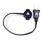 Quasar Science P1Z POLARIZED BI-PIN AC Power Cord