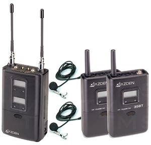 Azden 325ULT Dual-Channel UHF Twin Body-Pack Combo System