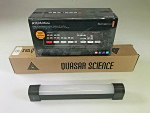 BLACKMAGIC DESIGN ATEM MINI SWITCHER + QUASAR SCIENCE LIGHT BUNDLE