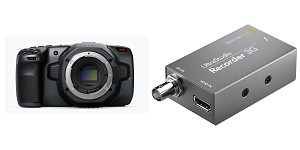 BLACKMAGIC POCKET 6K CAMERA + UltraStudio Recorder BUNDLE