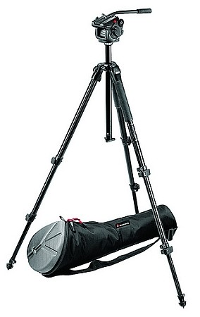 Bogen 501HDV Pro Video Head, 055XB Tripod, and MBAG80 Bag