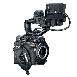 Canon C200B Accessory Kit 2216C011 with C200B Body, GR-V1 Grip, HDU-2 Handle, LM-V1 LCD, LA-V1 Attachment Unit, & UN-5 Cable