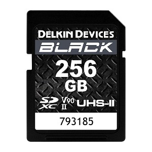 Delkin Devices 256GB BLACK V90 UHS-II SDXC Memory Card