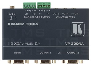 Kramer VP-200NA 1:2 VGA Video & Stereo Audio Distribution Amp