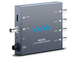 AJA 4K/UHD to HD-SDI and HDMI Down-converter - 4K2HD