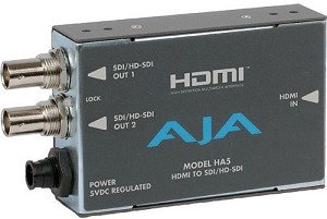 AJA HDMI to SD/HD-SDI Video and Audio Converter - HA5