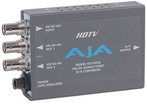 AJA SD/HD-SDI to Analog Audio/Video - HD10CEA