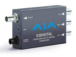 AJA Analog to HD/SD-SDI Mini-Converter - V2Digital