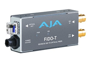AJA FiDO-T Single channel SDI to LC Fiber converter, with looping SDI output