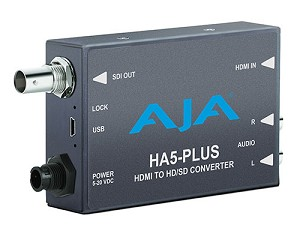 AJA HA5-Plus Integrated HDMI to 3G-SDI with DSLR Format Support