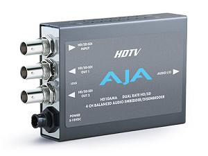 AJA HD10AMA 4 Channel Analog Audio Embed/Disembed