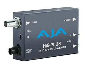 AJA Hi5-Plus HD/SD to HDMI Converter (Mini-Converter)