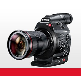 Canon C300 EF Mount Cinema Camera w/ Dual Pixel CMOS AF Feature Upgrade & 24-70mm Lens - 0044C006