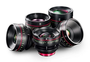 Canon 5 Cinema Prime Pack: CN-E14mm, 24mm, 50mm, 85mm, 135mm Lenses