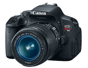 Canon EOS Rebel T4i Camera with EF-S 18-55mm Lens - 6558B003