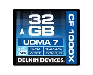 Delkin Devices DDCFCOMBAT1000-32GB Compact Flash 1000X 32GB