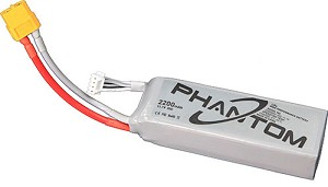 DJI Phantom Battery - 3S, 2200mAh, 20C, XT60 Connector