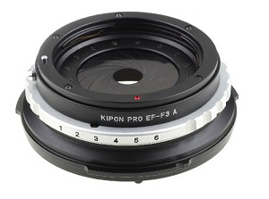 Kipon Canon EF to Sony F3 Lens Adapter w/ Aperture Ring - EF-F3 A