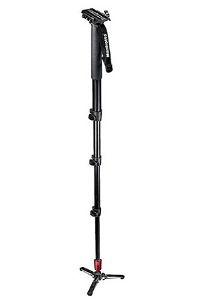 Manfrotto Fluid Video Aluminum 4-Section Monopod with Plate - 562B-1