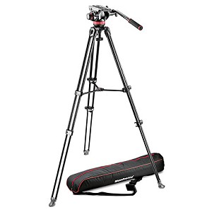 Manfrotto 502 Series Fluid Video Tripod Aluminum Twin Leg - MVK502AM-1