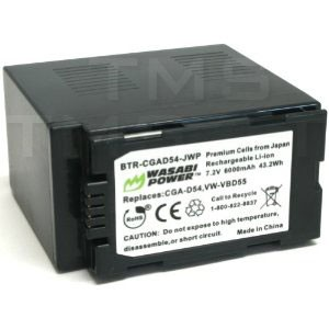 Wasabi Power Battery for Panasonic CGA-D54 - BTR-CGAD54-JWP