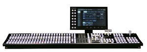 Panasonic 2ME Switcher with 32 HD-SDI plus two DVI-D Inputs,16 HD-SDI Dual Synched Outputs - AV-HS6000
