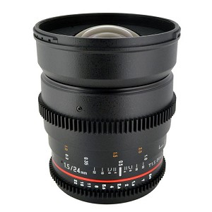 Rokinon 24mm T1.5 Cine Wide Angle Lens for Canon - CV24M-C
