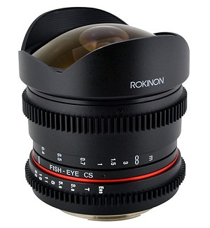 Rokinon 8mm T/3.8 Fisheye Cine VDSLR Lens for Canon - RK8MV-C
