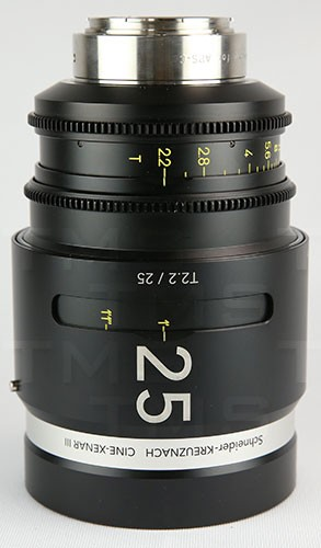 Schneider Optics CINE-XENAR III 25MM/T2.2 PL (m) - CX-1072707