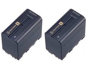 Sony Twin NP-F970 Rechargeable L Series Smart Battery Pack- 2NP-F970/B