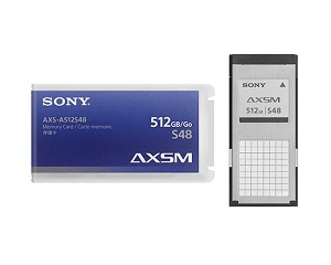 Sony AXS Memory A Series card, 512 GB, 4.8 Gbps Write Speed - AXS-A512S48