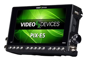 "Video Devices PIX-E5 4K Recording Video Monitor w/ 5"" Touch Display"