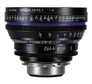 Zeiss CP.2 25mm / T2.1 EF Mount Lens (feet) - 1875-602