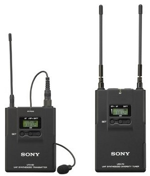 Sony UWP-V1/3032 Lav Mic, Bodypack TX and Portable RX Wireless System