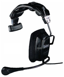Telex PH-1 Single-Sided Headset w/ Boom Mic & A4F Connector